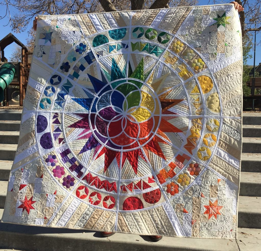 Betsy's intricate Galaxy quilt
