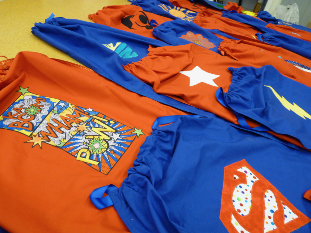 Superhero Capes made for the Epilepsy Foundation
